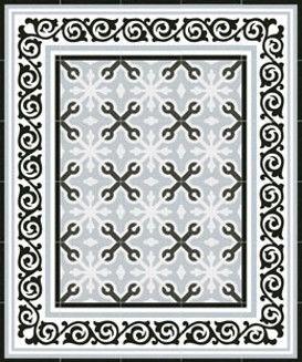 Best 16 carrelage aspect carreau ciment images on for Carrelage blanc 20x20