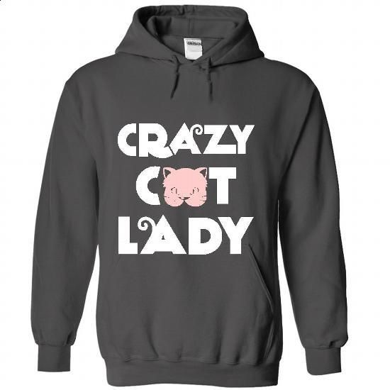 Crazy Cat Lady 4 - #white shirts #cool tshirt designs. CHECK PRICE => https://www.sunfrog.com/Pets/Crazy-Cat-Lady-4-6547-Charcoal-48012184-Hoodie.html?60505
