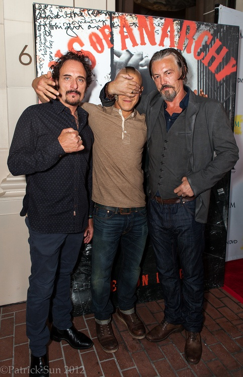 Sons of Anarchy (Kim Coates, Theo Rossi, & Tommy Flanagan)  This picture cracks me up