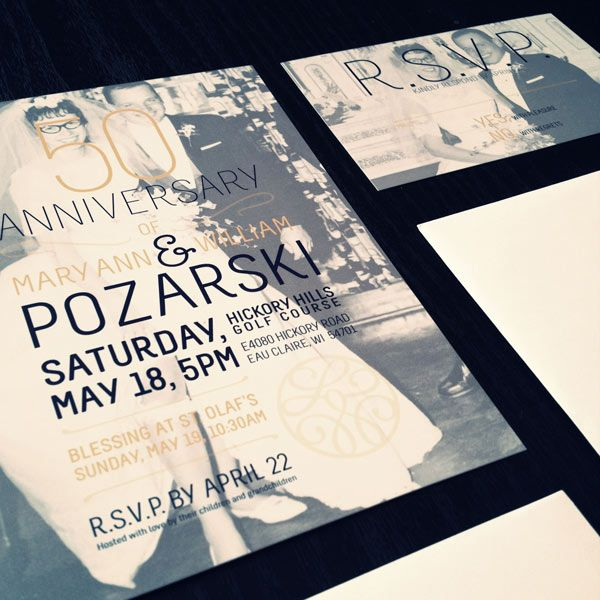 19 best anniversary party images on pinterest birthday invitations gotprint modern anniversary invitations or postcards stopboris Gallery