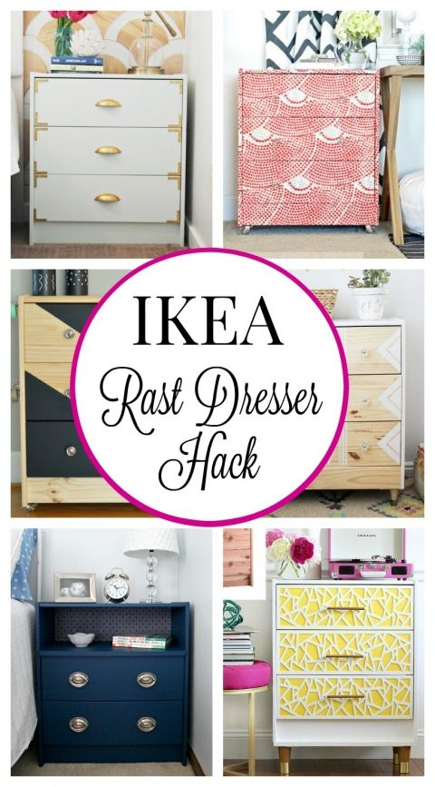 The Rast is the BEST! So cute, so small and wall-hugging. Can stack 'em up high, hang them up a few inches for shoes underneath, etc. Ikea Rast Dresser Hack