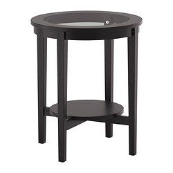 IKEA - MALMSTA, Side table, , Separate shelf for magazines, etc. helps you keep your things organized and the table top clear.Veneered surface gives the table a natural look and feel.