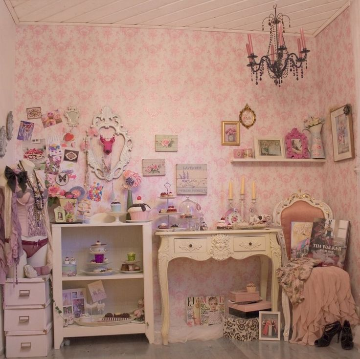 Shabby chic vintage cottage k r evi decor dekorasyon for Girly room decoration