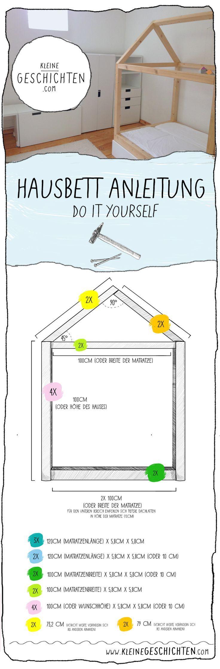 Kinderzimmer Bett selber bauen – Hausbett Anleitun…