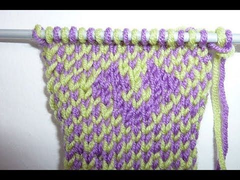 Knitting Color Blocking | Two Color Knitting | Intarsia - YouTube