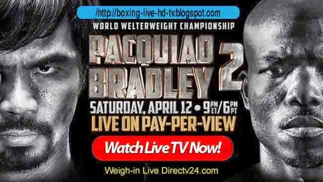 Welcome to Internet Fan's !! Watch and Enjoy Sports between Pacquiao vs Bradley Live Boxing, HBO Boxing PPV streaming TV link directly on your desktop, laptop or net-pad. Don't worry, we are here for your help. Here you can get your all sporting event easily. So don't be hesitated just follow our instruction and recommended streaming link assure that you are 100% satisfied in our service.