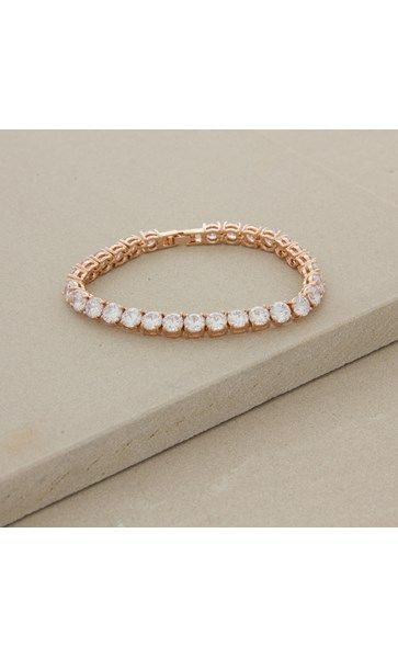 6mm Diamante Tennis 17cm Bracelet