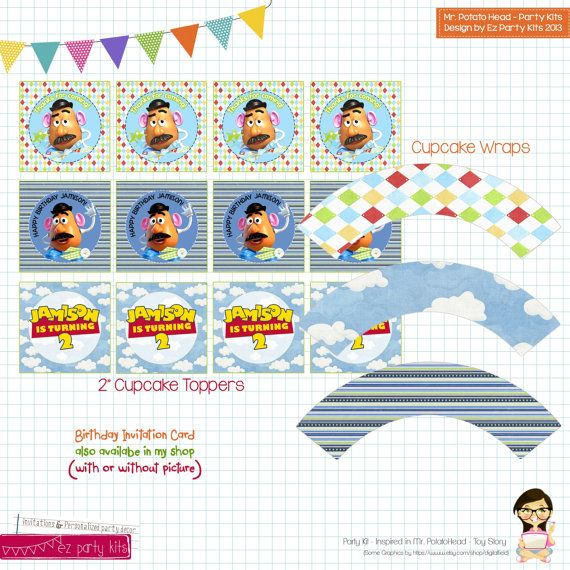 31 best Mr Potato Head Party images – Mr Potato Head Birthday Card