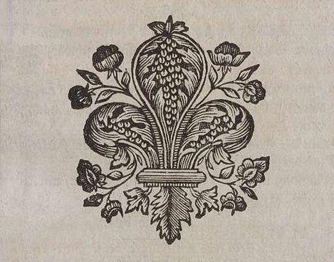 woodblock fleur de lis