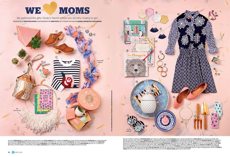 Mother's Day Gift Guide for Today's Parent. Art direction by Jamie Piper. Styled by Daniel Onori. Photo by Erik Putz (via Jamie Likes Design).