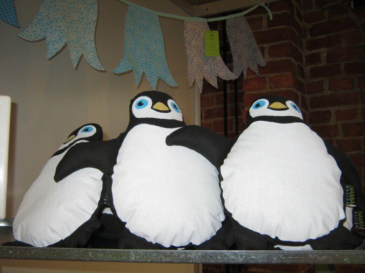 Pingviini-pehmolelut.