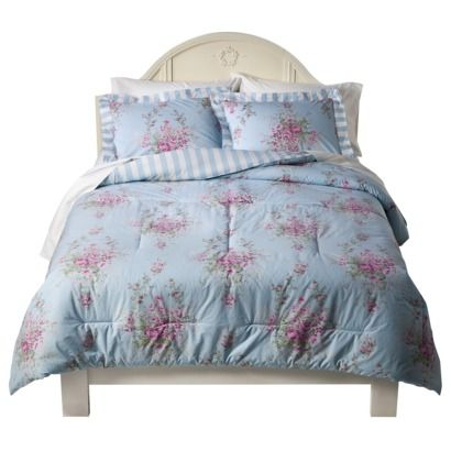 Shabby Chic Queen Comforter Sets   Simply Shabby Chic Cabbage Rose Twin Comforter Set   eBay