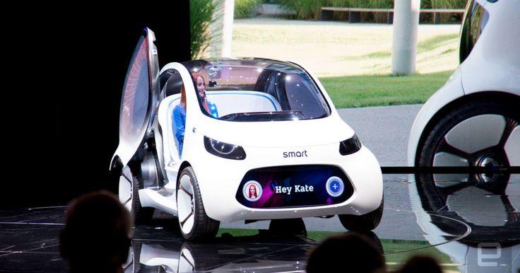 Mercedes' Smart Vision EQ is a tiny urban autonomous concept