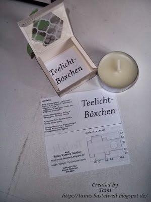 Anleitung Teelichtbox