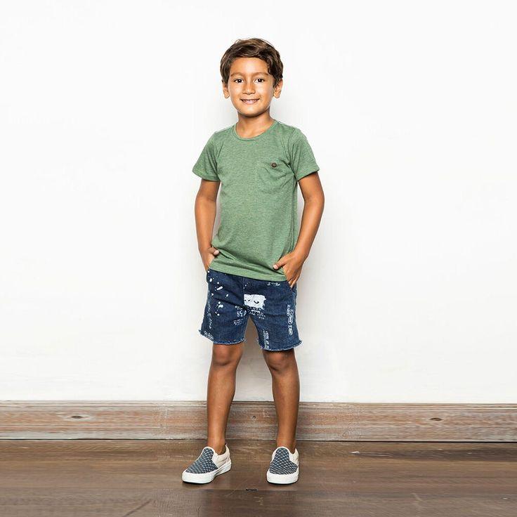 Zuttion Plain New Basic Pocket T-Shirt Army - Global Kidz