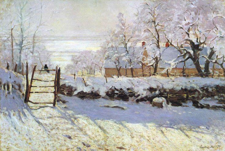 Claude Monet; La gazza; 1868-69; olio su tela; Musée d'Orsay, Parigi.