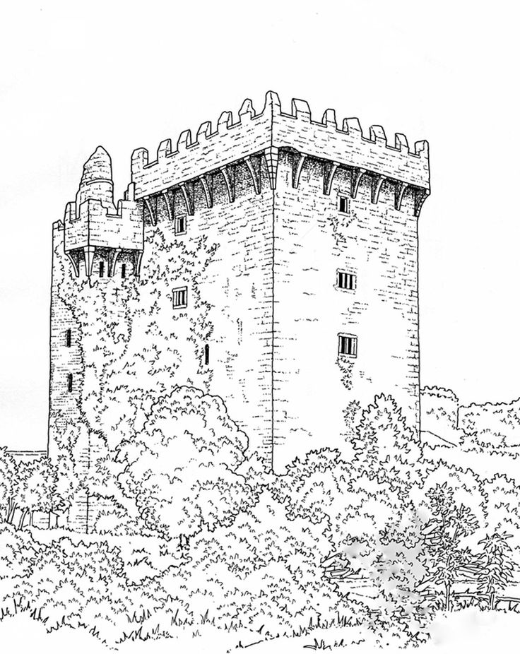 Coloring Pages For Adults Castle : Best images about castle coloring pages on pinterest