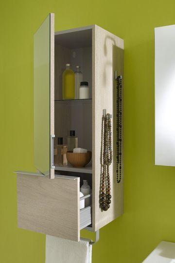 Rangement à tiroirs pour la salle de bains - Petite salle de bains : pratique et mignonne - CôtéMaison.fr
