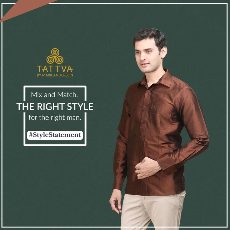 #StyleStatement Smooth and effortless style comes with Tattva. Be a #Tattva man for the #style #experience.