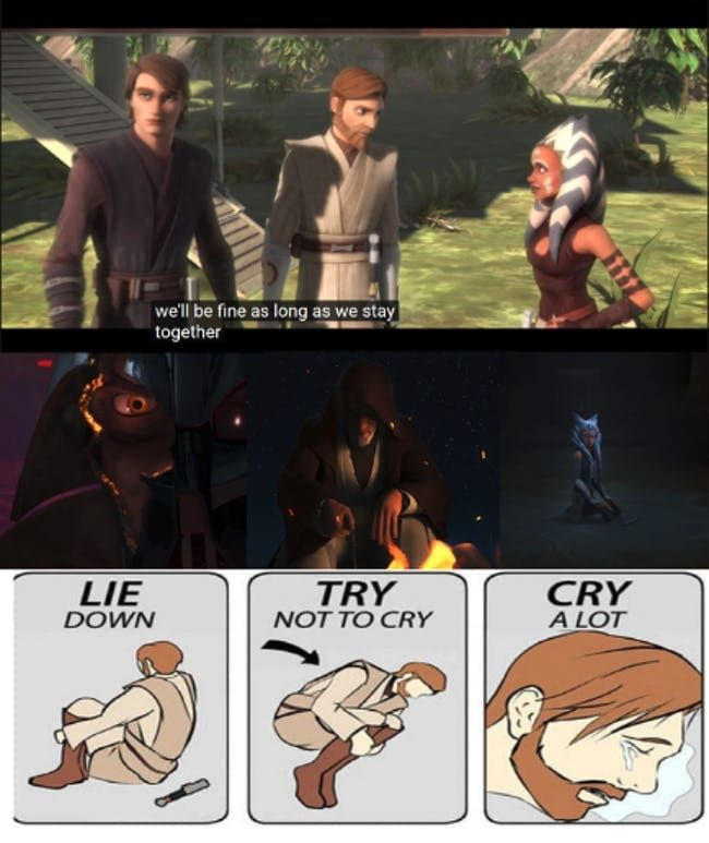 25 Memes About The Clone Wars To Celebrate The Final Season Star Wars Humor Star Wars Jokes Star Wars Facts