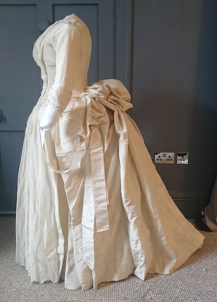 Breathtaking 1880s Bustle Wedding Dress By Court