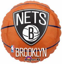"18"" Brooklyn Nets Basketball - Non-Pkg Foil Balloon (Pack of 5)"