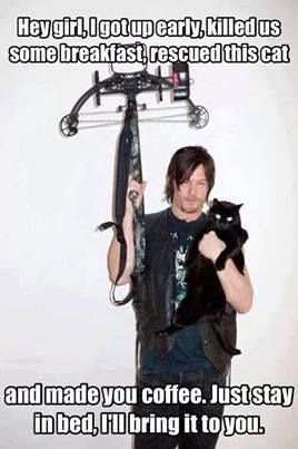 This is what I want right now!  Love me some Daryl Dixon!
