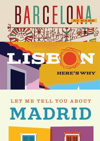 Barcelona, Madrid, Lisbon  we can stroll the narrow streets of Barcelona, stopping for an invigorating glass of cava and to pick up pinxtos or run the gamut of the Madrids attractions and its idiosyncrasies......or the guide to Lisbon allows  for wandering and for looking around Lisbon's beautiful tiled streets. We enjoy views from rooftops, parks and gardens, take a ferry across the Tagus, explore museums and galleries, and yes, we stop to linger over food and drink too.