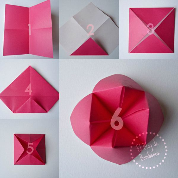 Como se hace un comecocos origami cookie catcher step for Romantic origami ideas