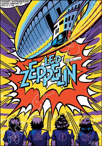 775 LED ZEPPELIN Sydney Showground Australia 27 by Mokusaiya