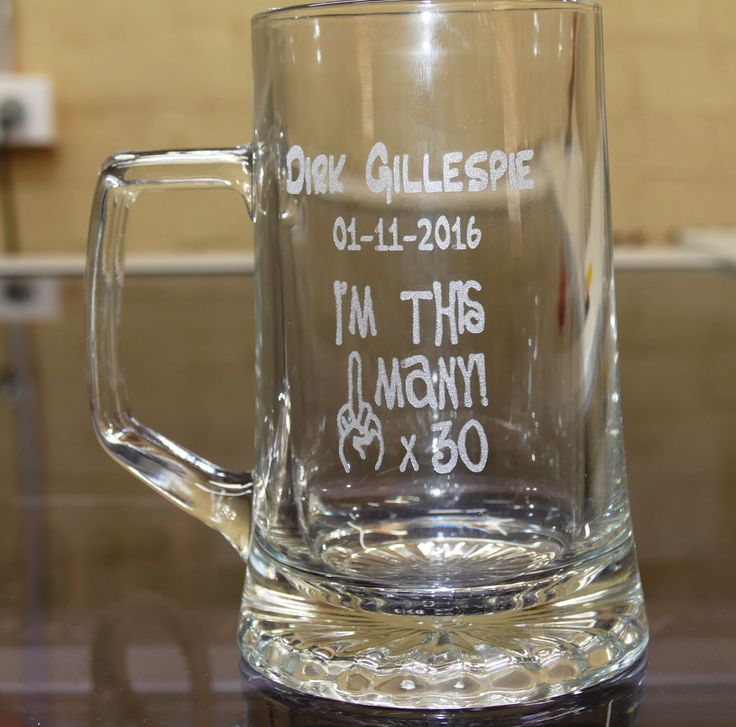 Beer glass engraved example 500 ml tankard design your own