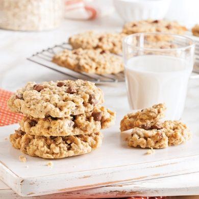 Biscuits moelleux au chocolat, avoine et noix - Recettes - Cuisine et nutrition - Pratico Pratique