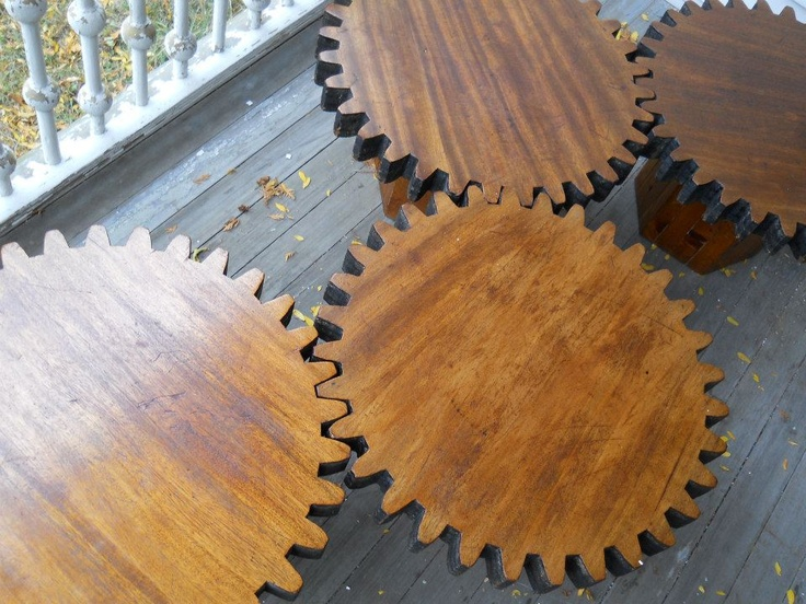 Clockwork tables $450 for set of 4 at Centuries