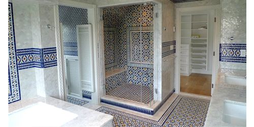 Moroccan Bathroom Design The Moroccan Bathroom Emphasizes An Overall Unity Of Color And