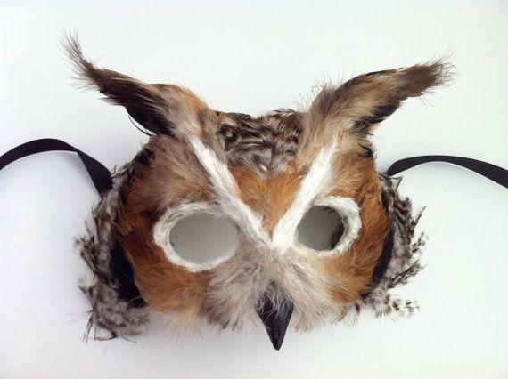 Great Horned Owl / Venetian Specialty Custom Animal Mask   .....oh my God...   sooooo cute