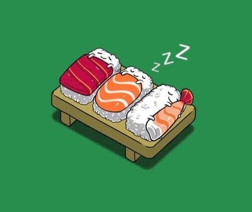 Slapende sushi's