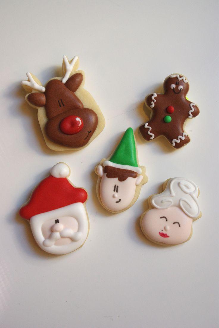 Christmas mini cookies www.teenytinybakery.com