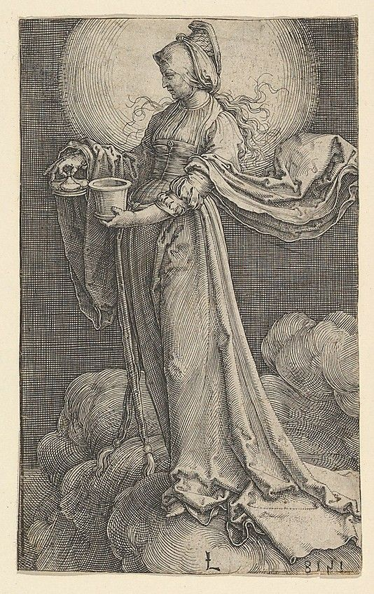 St. Mary Magdalene on the Clouds |  Lucas van Leyden  (Netherlandish…