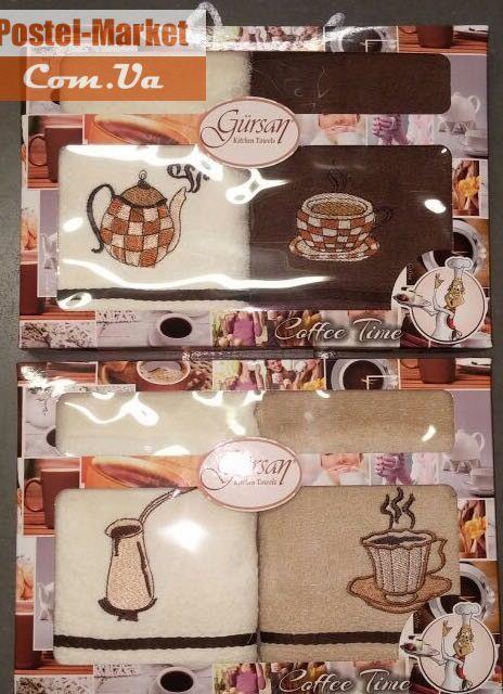 Набор полотенец для кухни Кофе Gursan. Купить Набор полотенец для кухни Кофе Gursan в интернет магазине Постель маркет (Киев, Украина)