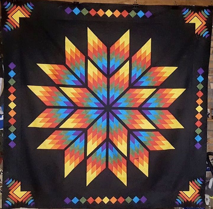 Prismatic Star, Quiltworx.com, Made by Sheralyn McGlinchey