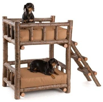 Rustic Dog Beds | Rustic Dog Bunk Bed #5134 By La Lune Collection Rustic Pet