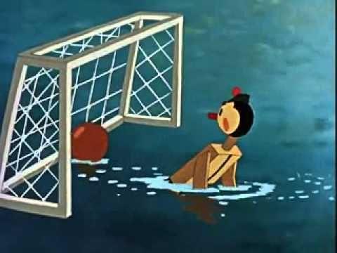Water Polo Cartoon 1956 USSR - fair play lesson - YouTube