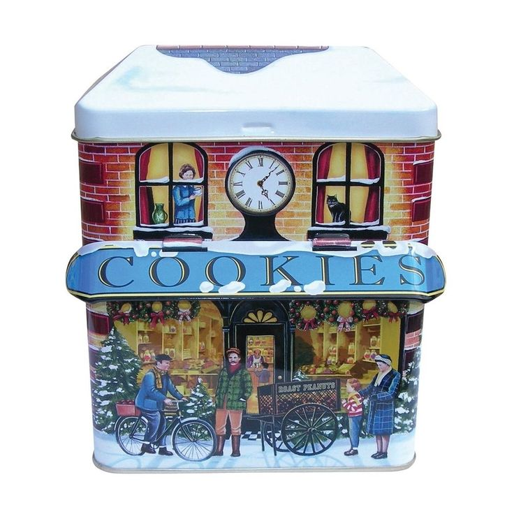 The Silver Crane Company Christmas Tins CANO0017 Small Canopy Winter Cookie Shop in Home, Furniture & DIY, Home Decor, Boxes, Jars & Tins   eBay