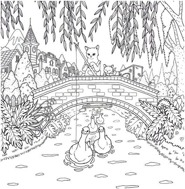 Cat Coloring Therapy Coloring Book Download Cute Coloring Pages Animal Coloring Pages Coloring Books