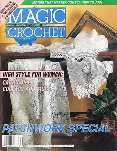Magic Crochet №81 1992 #crochet books #afs collection       you have to click on each item you want the graph for    m