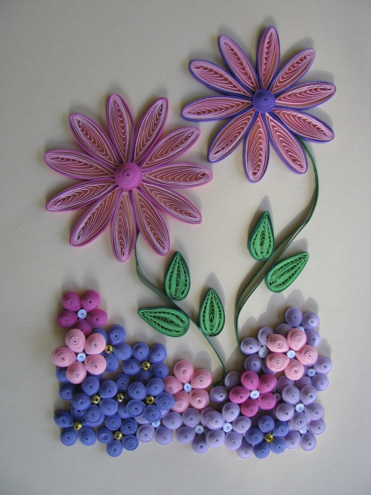 2372 best quilled flower images on pinterest paper for Paper quilling work