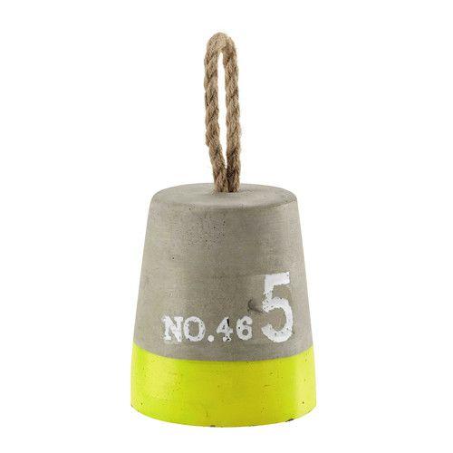 Sujetapuertas de cemento gris y amarillo Al. 16 cm CHENAL