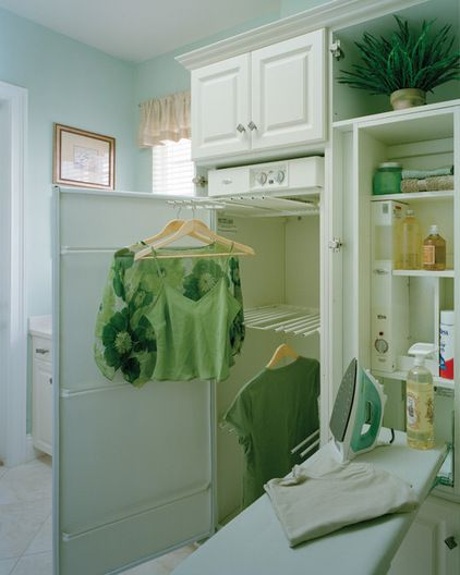 Ironing Center & Drying Cabinet  Traditional Laundry Room by Sater Design Collection, Inc.
