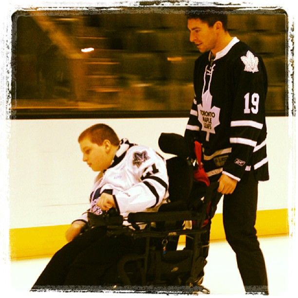 Joffrey Lupul at the recent Leafs Skate For Easter Seals