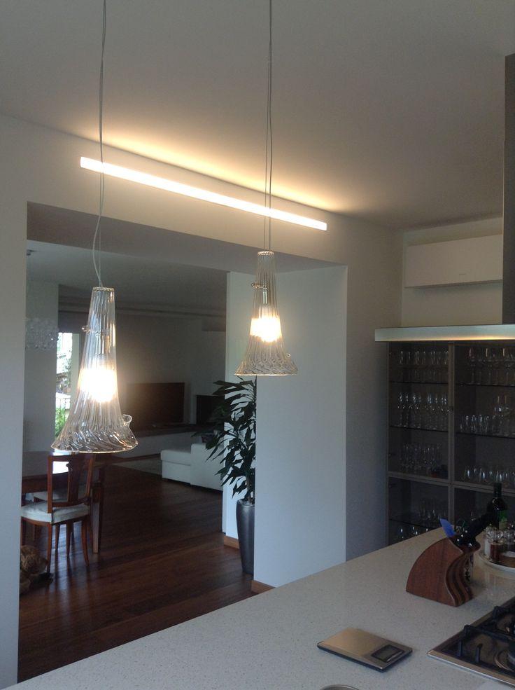 Abitazione privata #illuminazione #cucina #tagli #luce #LED #Ligting #Design
